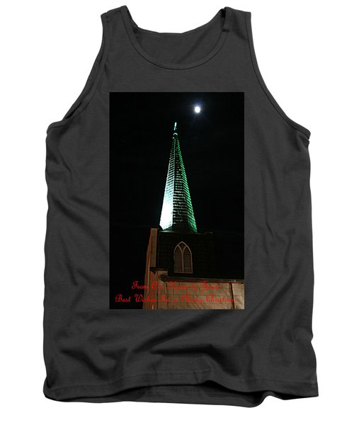 St. Augustine Moon Christmas Card Tank Top
