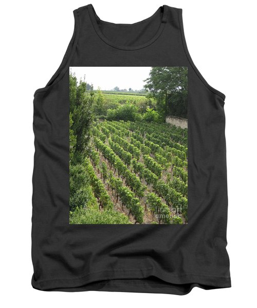 Tank Top featuring the photograph St. Emilion Vineyard by HEVi FineArt