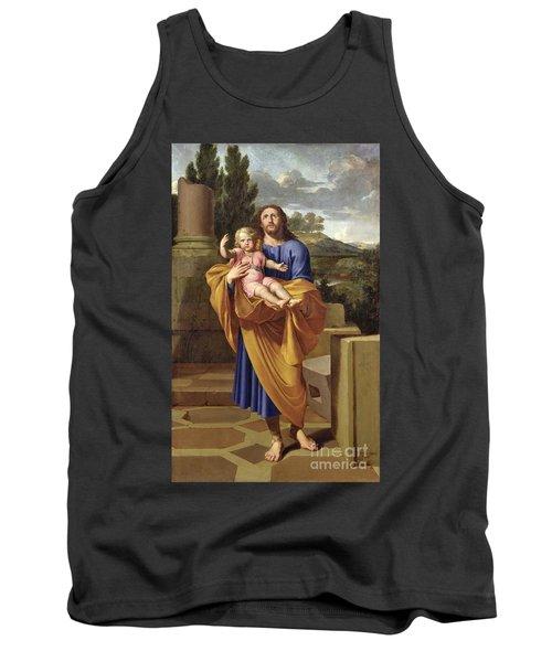 St. Joseph Carrying The Infant Jesus Tank Top