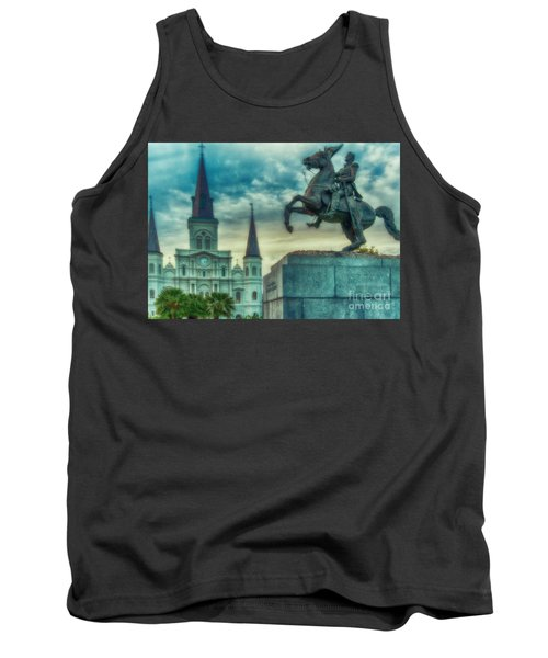 St. Louis Cathedral And Andrew Jackson- Artistic Tank Top