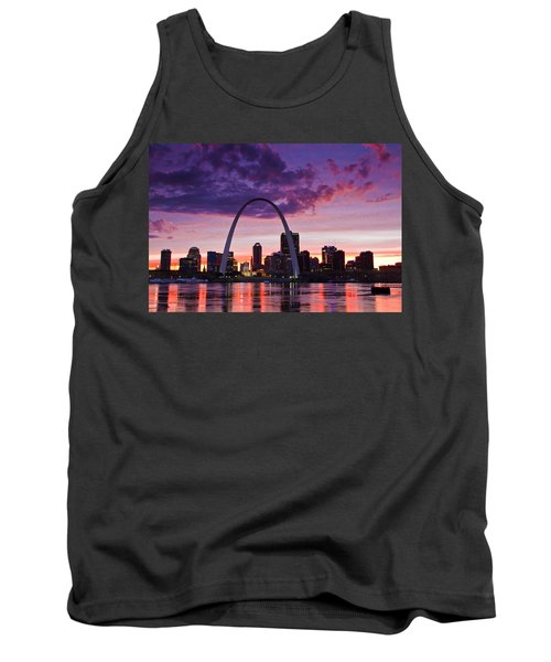 St Louis Sunset Tank Top by Garry McMichael