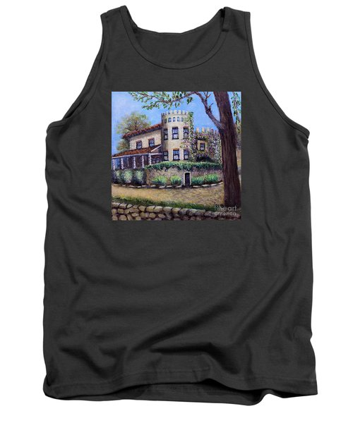 Tank Top featuring the painting Stags' Leap Manor House by Rita Brown