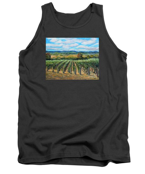 Tank Top featuring the painting Stags' Leap Vineyard by Rita Brown