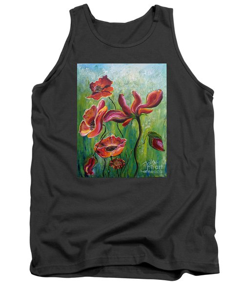 Standing High Tank Top by Jolanta Anna Karolska