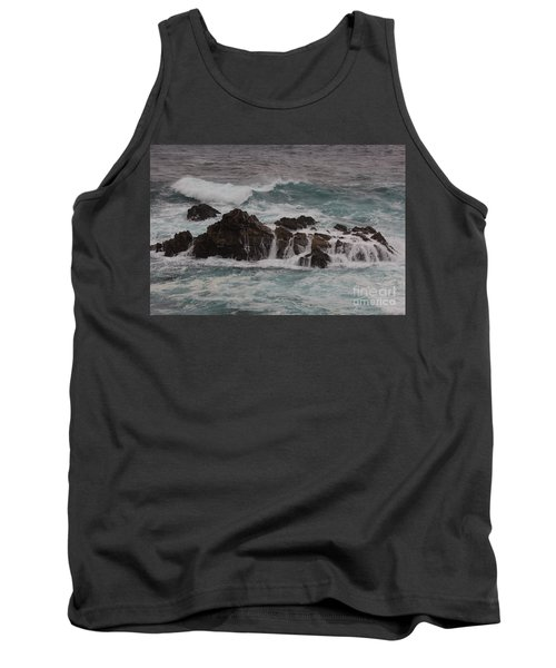 Tank Top featuring the photograph Standing Up To The Waves by Suzanne Luft