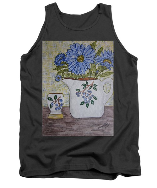 Stangl Blueberry Pottery Tank Top by Kathy Marrs Chandler