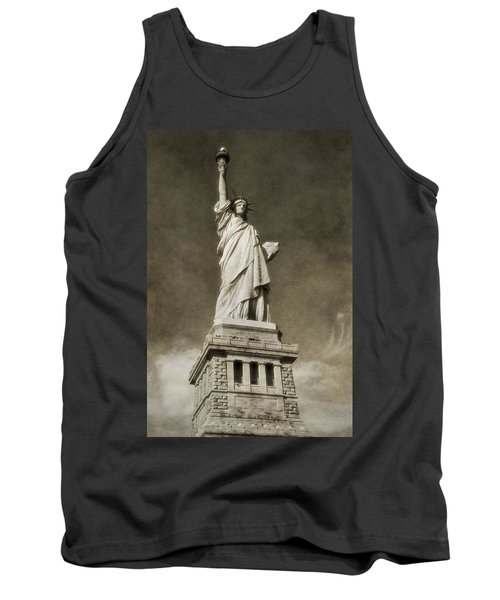 Statue Of Liberty Sepia Tank Top