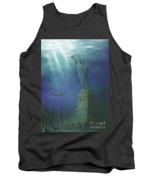 Statue Of Liberty Under Water Tank Top