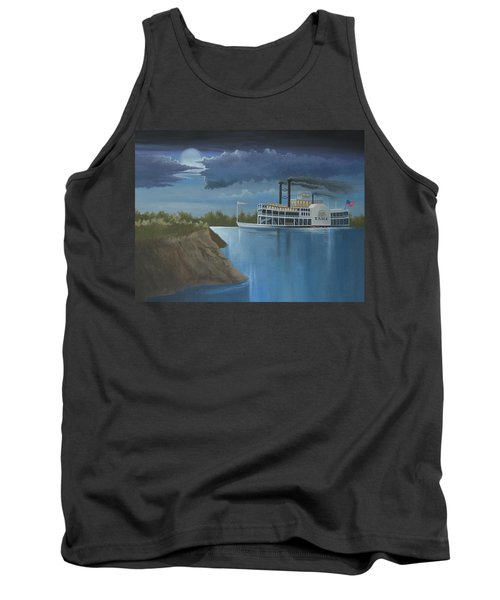 Steamboat On The Mississippi Tank Top by Stuart Swartz
