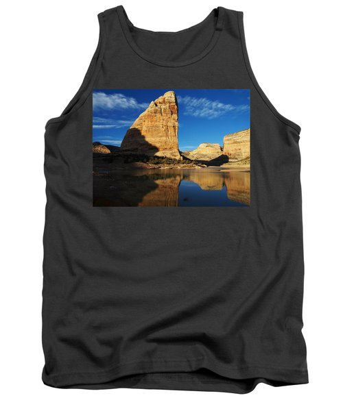 Steamboat Rock In Dinosaur National Monument Tank Top by Nadja Rider