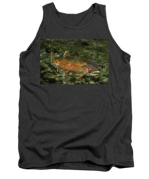 Steelhead Trout Spawning Tank Top by Randall Nyhof