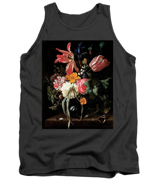 Still Life Of Flowers, 1669 Oil On Canvas Tank Top