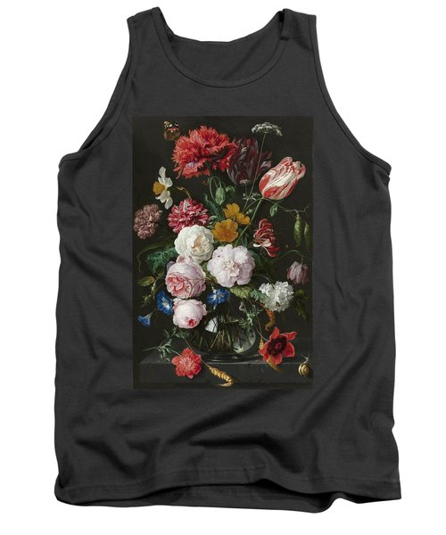 Still Life With Flowers In Glass Vase Tank Top