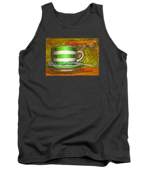 Still Life With Green Stripes And Saddle  Tank Top by Mark Jones