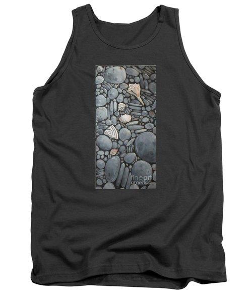 Stone Beach Keepsake Rocky Beach Shells And Stones Tank Top by Mary Hubley