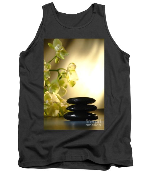 Stone Cairn And Orchids Tank Top