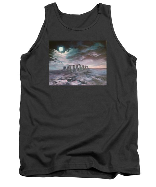 Tank Top featuring the painting Stonehenge In Wiltshire by Jean Walker