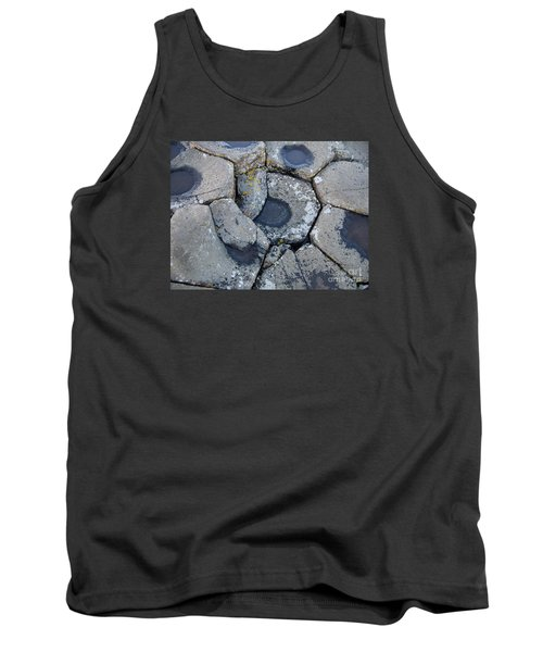Tank Top featuring the photograph Stones On Giant's Causeway by Marilyn Zalatan