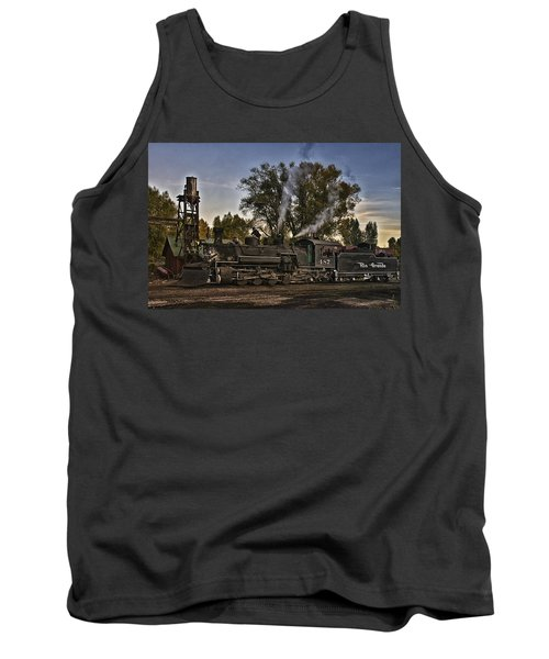 Tank Top featuring the photograph Stopped At Chama by Priscilla Burgers