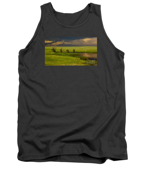 Storm Crossing Prairie 1 Tank Top by Robert Frederick