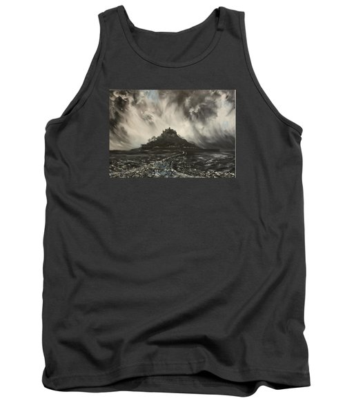 Tank Top featuring the painting Storm Over St Michaels Mount Cornwall by Jean Walker