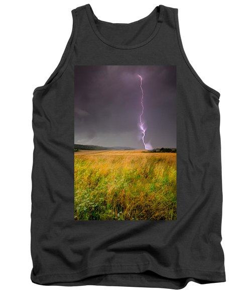 Storm Over The Wheat Fields Tank Top