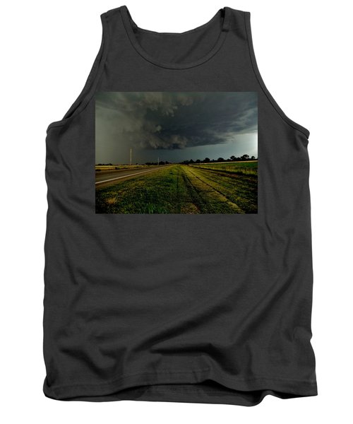 Tank Top featuring the photograph Stormy Road Ahead by Ed Sweeney