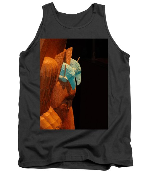 Tank Top featuring the photograph Story Pole by Cheryl Hoyle