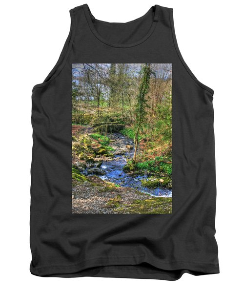 Tank Top featuring the photograph Stream In Wales by Doc Braham