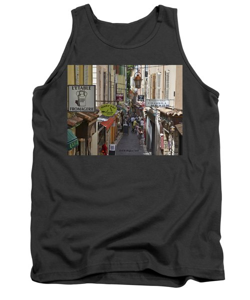 Tank Top featuring the photograph Street Scene In Antibes by Allen Sheffield