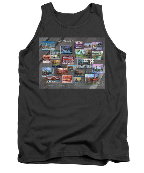 Tank Top featuring the painting Streets Full Of Memories by Rita Brown