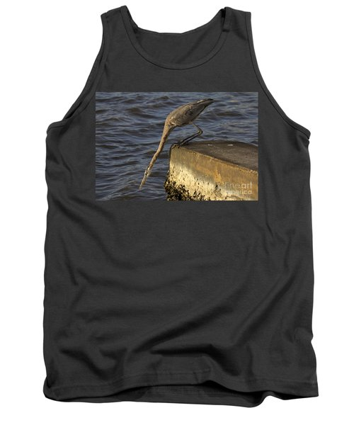 Tank Top featuring the photograph Stretch - Great Blue Heron by Meg Rousher