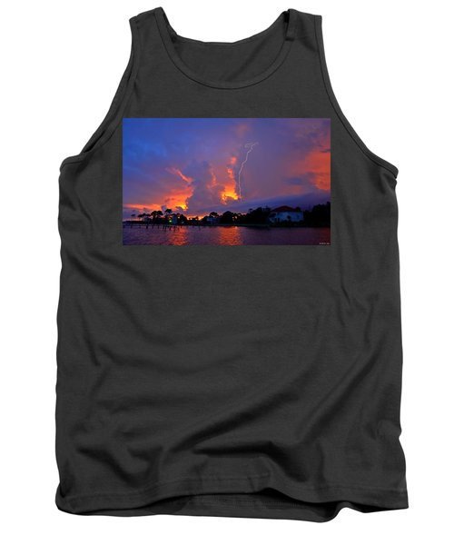 Tank Top featuring the photograph Strike Up The Middle At Sunset by Jeff at JSJ Photography