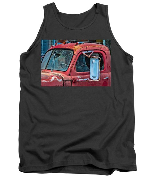 Tank Top featuring the photograph Strong City Red by Steven Bateson