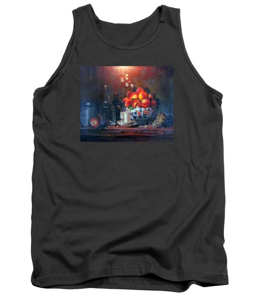 Tank Top featuring the painting Study Of Peaches by Donna Tucker
