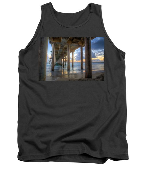 Subtle Pier Sunset Tank Top