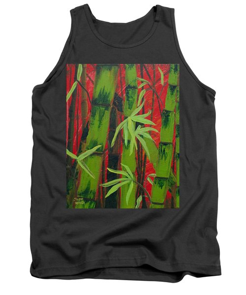 Sultry Bamboo Forest Acrylic Painting Tank Top