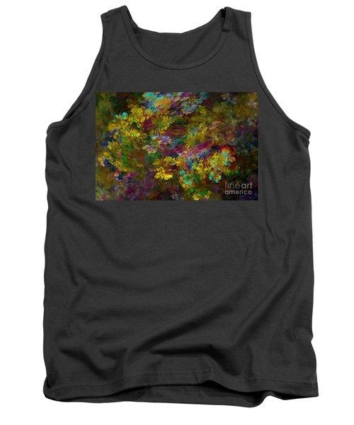 Tank Top featuring the digital art Summer Burst by Olga Hamilton