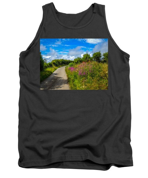Summer Flowers On Irish Country Road Tank Top