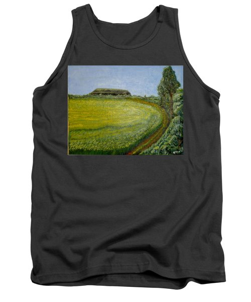 Tank Top featuring the painting Summer In Canola Field by Felicia Tica