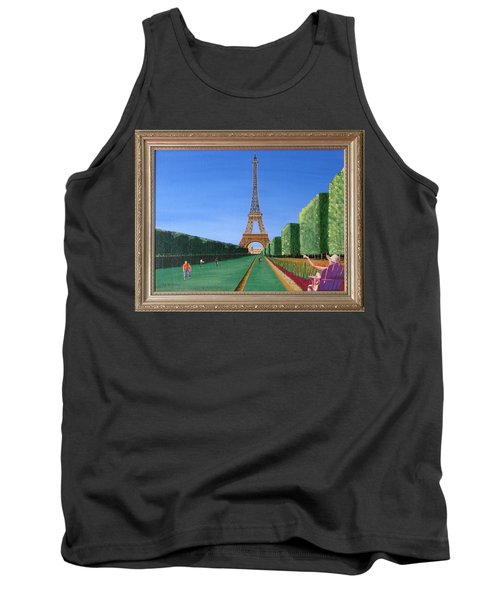 Tank Top featuring the painting Summer In Paris by Ron Davidson