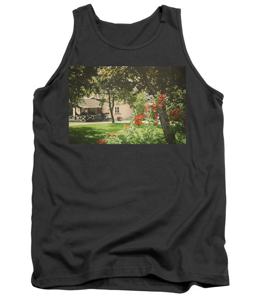 Tank Top featuring the photograph Summer In The Park by Ari Salmela