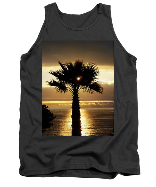 Sun And Palm And Sea Tank Top by Joe Schofield