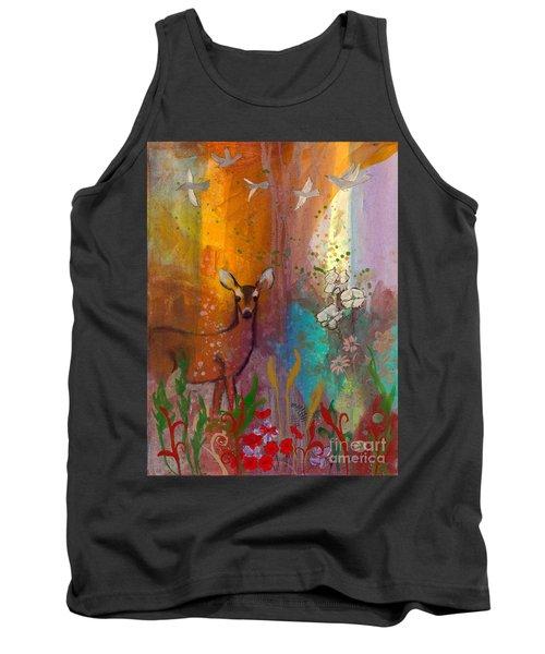 Sun Deer Tank Top by Robin Maria Pedrero