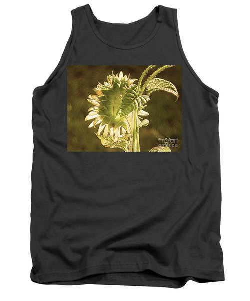 Tank Top featuring the photograph Sun-lite Sunflowwer by Donna Brown