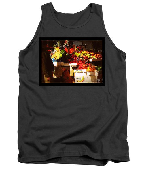 Tank Top featuring the photograph Sun On Fruit by Miriam Danar