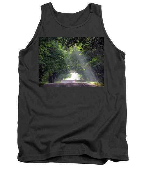 Sun Rays On Waters End Road Tank Top by David T Wilkinson