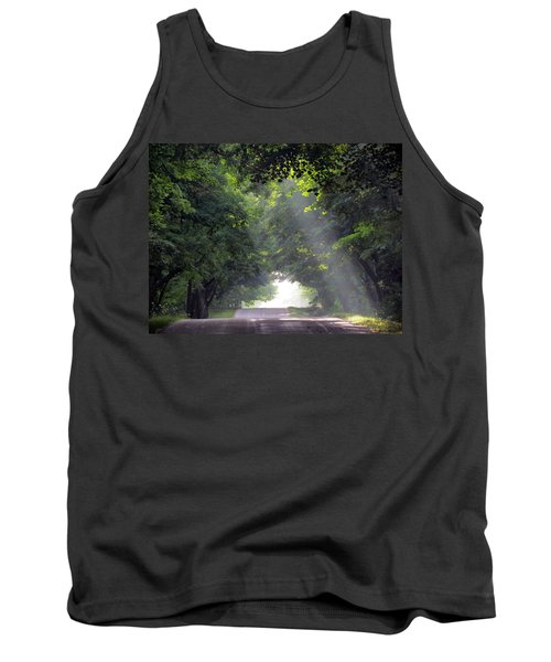 Sun Rays On Waters End Road Tank Top