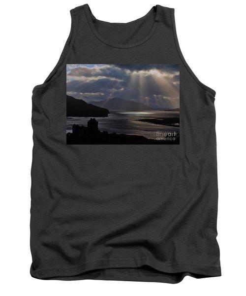 Sun Rays Over Eilean Donan Castle Tank Top