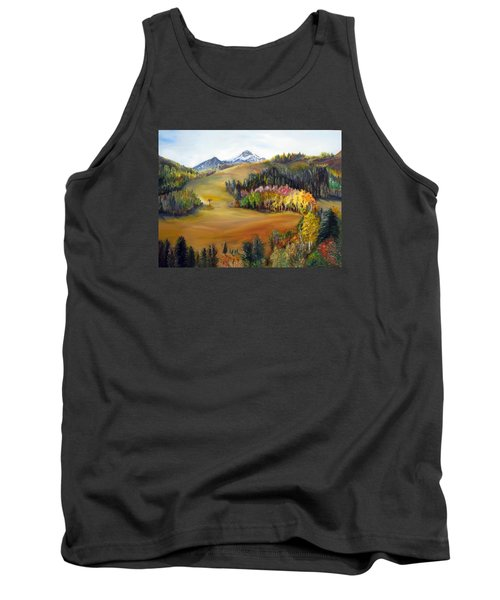 Sundance And Mt. Timpanogos Tank Top by LaVonne Hand